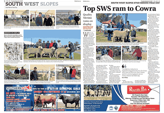 The Land Article - SWS Field Day - 7Sep2017
